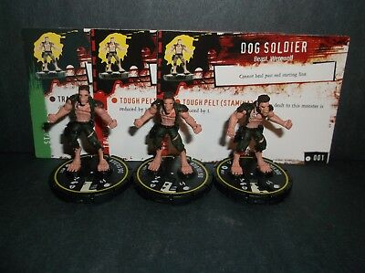 "HORRORCLIX Dog Soldier X3 #001 Rookie -Yellow- ""NEW"" W/Cards Baes Set"