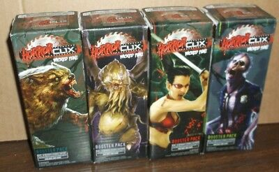 "HORRORCLIX 4 Base Set Booster Boxes ""NEW"""