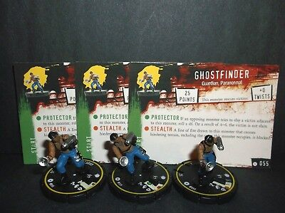 HORRORCLIX Ghostfinder 3 miniatures #055, Rookie Yellow W/Cards Base Set
