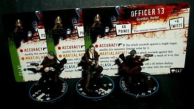 HORRORCLIX Officer Friendly 3 pieces #047, Blue- Experienced w/cards, FREAKSHOW