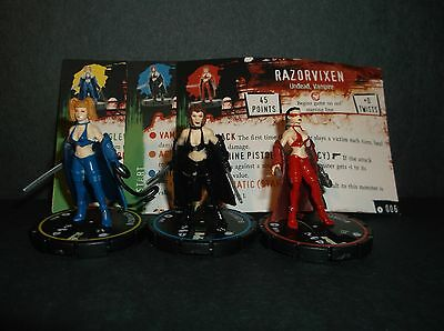 HORRORCLIX  Razorvixen R.E.V. Set of 3 miniatures #004, #005, & #006, Base Set