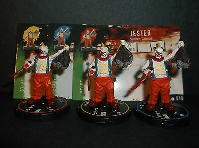 HORRORCLIX  Jester R.E.V. Set of 3 miniatures #016, #017, & #018, Base Set
