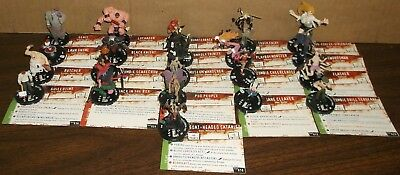 """HORRORCLIX  21 Different Miniatures From The NIGHTMARES Series """"NEW"""" W/CARDS"""
