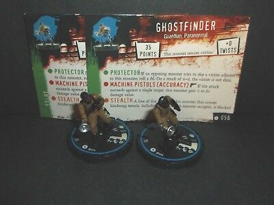 HORRORCLIX Ghostfinder 2 miniatures #056, Experienced  Blue W/Cards Base Set