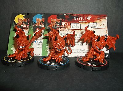 HORRORCLIX  Devil Imp R.E.V. Set of 3 miniatures #022, #023, & #024, Base Set