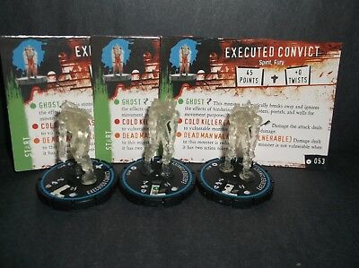 HORRORCLIX Executed Convict 3 miniatures #053, Experienced Blue W/Cards Base Set