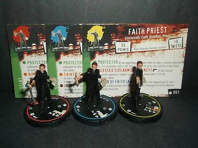 HORRORCLIX Faith Priest R.E.V. Set of 3 miniatures #061, #062, & #063, Base Set