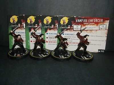 HORRORCLIX Vampire Enforcer 4 miniatures #040, Rookie, Yellow, W/Cards Base Set