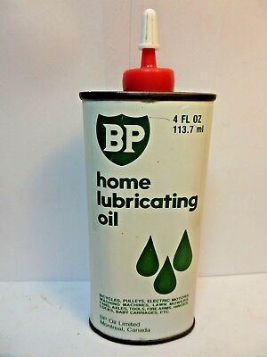 #3 VINTAGE VERY RARE 1950's B P HOME LUBRICATING OIL TIN CAN HANDY OILER