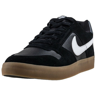 65fb0a159f67 Mens Nike SB Delta Force Vulc Leather   Suede Black Shoes Trainers Casual  BNIB