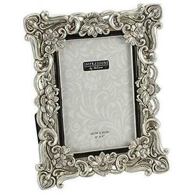 "Ornate Antique Silver Vintage Style Photo Photograph Picture Frame 6 x 4"" Gift"