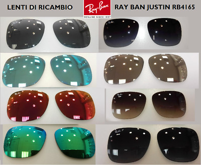 Ray Ban Justin Originali Lenti Di Ricambio Rb4165 Calibro 54 Replacempent Lenses