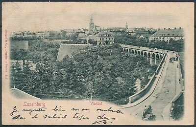[AI2556] Luxembourg - Viaduct TB carte postale RELIEF