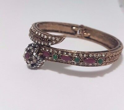 Antique Vintage Style Women New Snake Handmade Jewelry Bracelet Gift Crystal