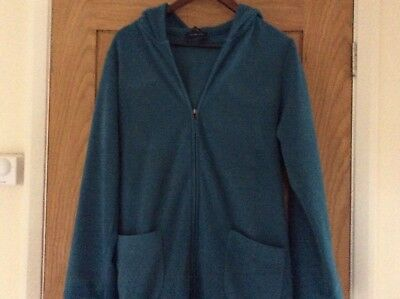 Lands' End Long Dressing Gown With Hood In Size Medium