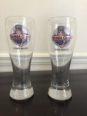Two Bubba Gump Shrimp CO Long Beach Beer Glasses large