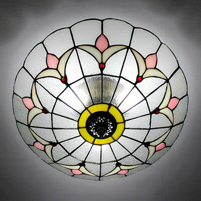 Tiffany stained glass ceiling lighting fixture flush mount romance tiffany stained glass ceiling lighting fixture flush mount romance vintage light aloadofball Gallery