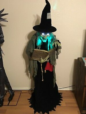 Lifesize Spell Speaking Witch Animated Halloween Prop