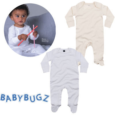 Baby Sleepsuit Scratch Mitts Soft Organic Cotton Envelope Neck Bodysuit Newborn