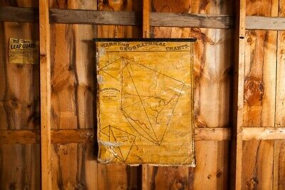 Rare Antique 19th Century North America Pull Down Map