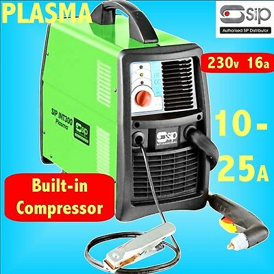 SIP 05783 INT300 230v 16A PLASMA CUTTER 25A - Up to 10mm cut BUILT IN COMPRESSOR