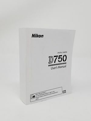 Nikon D750 Genuine Instruction Owners Manual Book Brand New (English) Pages-506