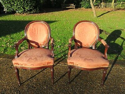 Pair Of Superb Quality Mahogany Hepplewhite Style Oval Backed Chairs Circa 1910