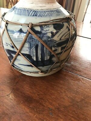 ANTIQUE 19TH/18th CENTURY CHINESE BLUE & WHITE PORCELAIN GINGER POT 6 1/4''
