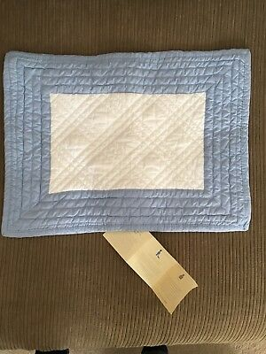 Pottery Barn Kids Boys Quilted Pillow Sham Case Blue with no monogram