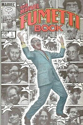 Marvel Fumetti Book #1  Stan Lee & Bullpen Photo Covers  One-Shot 1984  Nice!!!