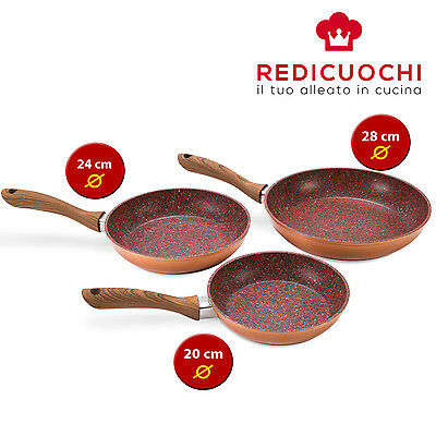 MEDIASHOPPING Set padelle Copper Stone