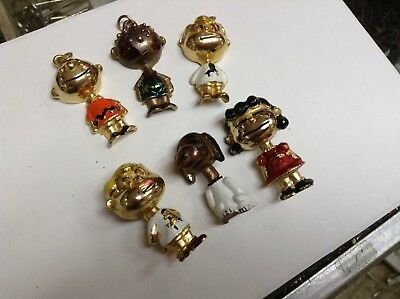 6 Vintage Peanuts Gang Pins Pendants Jewelry Snoopy Charlie Brown Lucy RARE set