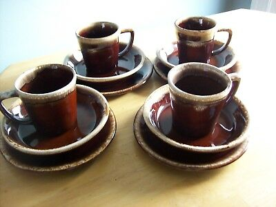 Vintage McCoy Pottery Brown Dinnerware Collection set of 4