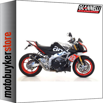 Giannelli Kit Silencer X-Pro Black Aprilia Tuono V4 1100 Factory 2015 15 2016 16