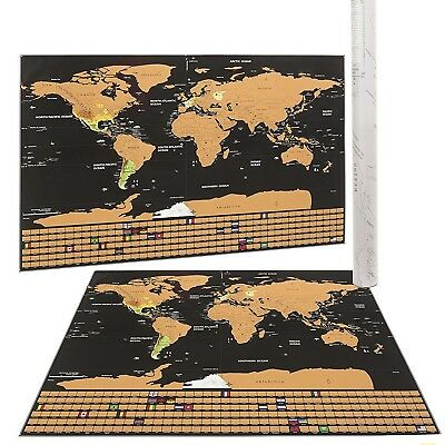 Scratch Off World Map Poster.Mojco Scratch Off World Map Poster Us States Country Flags Size