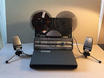 All Tube Wollensak 1580 Stereo Reel to Reel with Stereo microphones and Speakers