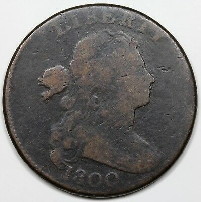 1800 Draped Bust Large Cent, VG