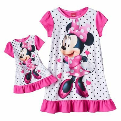 Girl 2T-4T and Doll Matching Minnie Nightgown Clothes American Girls Dollie Me