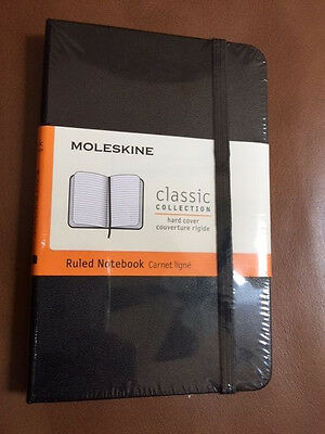 NEW Moleskine BLACK Pocket RULED NOTEBOOK HARD 192 PG. CLASSIC COLLECTION #1009
