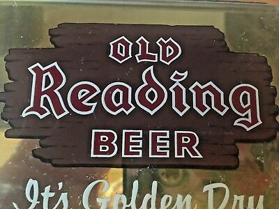 Old Reading Beer Sign.Cash Register Topper,damaged but fixable.Take a Look!!