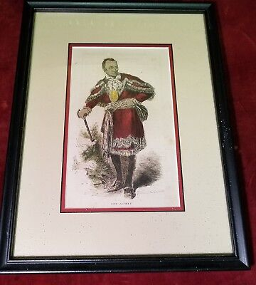 Antique Hand colored print of Chief Red Jacket