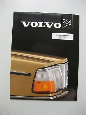 Volvo 264 265 prestige brochure Prospekt Dutch language 1982 24 pg
