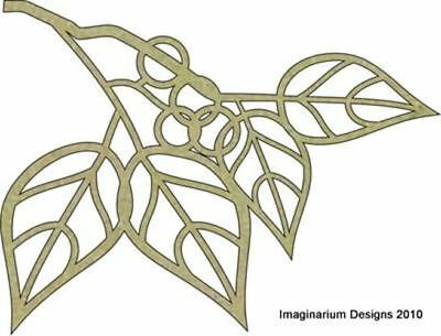 Imaginarium Designs - Chipboard Leaves and Circles Flourish  (IDFL0008)