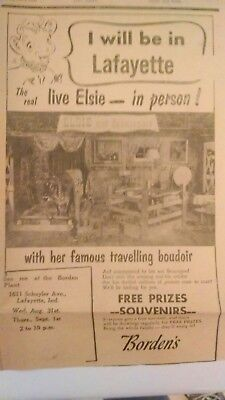 vintage 1955 Bordens ad with Elsie