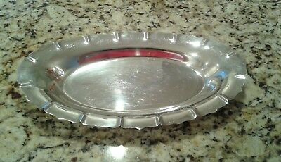 Vtg Early American International Silver Co.2360 Serving DISH Tray Holiday Party