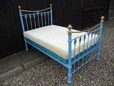 Antique Victorian Style 4Ft Double Bed With Ornate Metal Frame Shabby Chic Retro