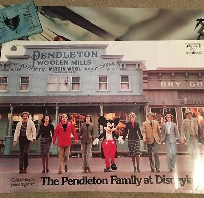 Vintage Disneyland Poster Pendleton Store and Family