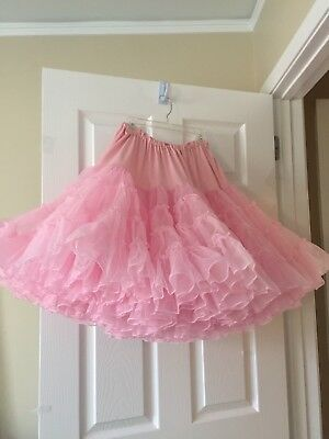 Pink Ruffle Very Full Square Dance Petticoat And Pettipants
