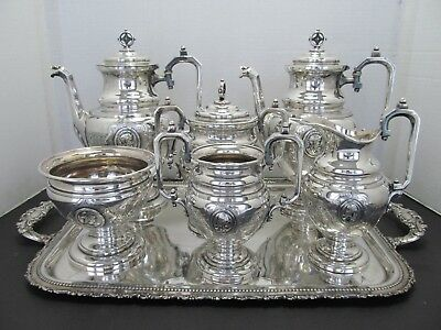 Awesome Reed & Barton Edwardian 7-Pc. Silverplate Tea & Coffee St