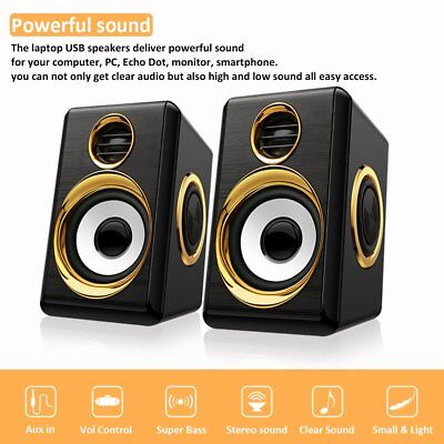 USB Powered Computer Speakers System for Gaming Music Movies Laptop Computers